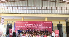 Chương trình từ thiện tặng quà cho các cháu thiếu nhi mồ côi tại PhaoLô Thiên Ân