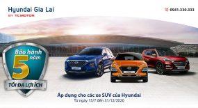 Hyundai chính thức thông báo tăng thời gian bảo hành cho 3 mẫu SUV  từ 3 lên 5 năm