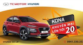 Khuyến mãi Kona lên đến 20 triệu và trưng bày xe