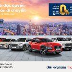 Trả góp lãi suất 0% lên đến 12 tháng các dòng xe Hyundai
